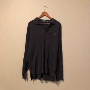 Black Ralph Lauren Long Sleeve Polo